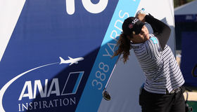 Ariya Jutanugarn at the ANA inspiration golf tournament 2015 Royalty Free Stock Images