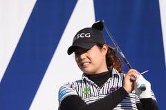 Ariya Jutanugarn au tournoi 2015 de golf d'inspiration d'ANA photos stock