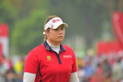 Ariya Jutanugarn in Honda LPGA Thailand 2018 Royalty Free Stock Photos