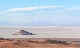 Arizaro salt-flat stock photo