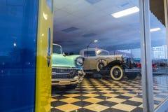 View of a carshop at Kingman, royalty free stock photo