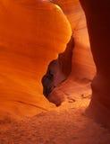 Arizona antylop canyon niższa strony do szczeliny zdjęcia stock