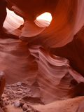 Arizona antylop canyon niższa strony do szczeliny obraz royalty free