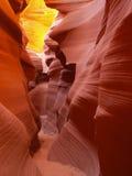 Arizona antylop canyon niższa strony do szczeliny Fotografia Stock