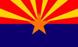 Arizona. USA flag; from vector collection vector illustration