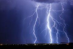 Arizona błyskawicowa burza Fotografia Royalty Free