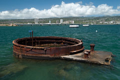 Arizona battle ship in Pearl Harbor Royalty Free Stock Photo