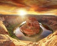 arizona bend horseshoe Στοκ εικόνα με δικαίωμα ελεύθερης χρήσης