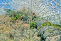 Arizona Biosphere #3. Geodesic dome of the Biosphere located in Arizona for the study of different environments. 35mm film. Nikon Coolscan scanner royalty free stock photography