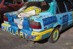 Arizona, Bisbee, April 6, 2015, Hillary Car, custom car promoting 2016 Presidential Election Royalty Free Stock Images