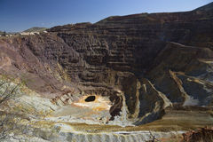 Arizona, Bisbee, USA, April 6, 2015, abandoned copper mine Royalty Free Stock Images