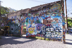 Arizona, Bisbee, USA am 6. April 2015 Graffiti Lizenzfreie Stockbilder