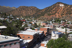 Arizona, Bisbee, USA, April 6, 2015, overlook of copper town turned arts town royalty free stock images