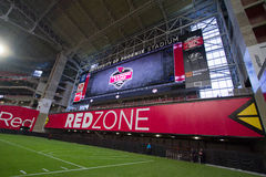 Arizona Cardinals University of Phoenix Red Zone. Red Zone end zone of the NFL Arizona Cardinals University of Phoenix stadium Royalty Free Stock Image