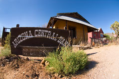 Arizona Central Bank Ghost Town Stock Images