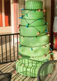 Arizona Christmas Tree. Creative Christmas decorations in the Arizona desert Stock Images