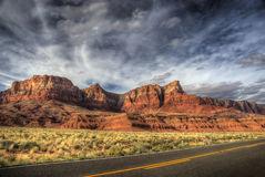 Arizona Cliffs. Stone cliffs along side the highway in the Arizona desert Stock Image