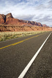 Arizona Cliffs. Stone cliffs along side the highway in the Arizona desert royalty free stock photography
