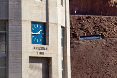 Arizona clock on intake tower on Hoover Dam Royalty Free Stock Photos