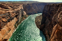 arizona colorado hästskoflod USA Arkivbild