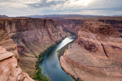 arizona colorado hästskoflod USA Royaltyfri Foto
