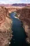 arizona colorado river view royaltyfri bild