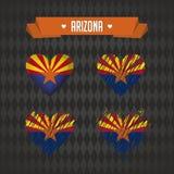 Arizona con amor Corazón quebrado del vector del diseño con la bandera dentro stock de ilustración
