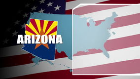 Arizona Countered Flag and Information Panel stock video footage