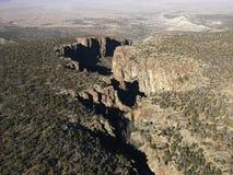 Arizona desert aerial. Stock Photo