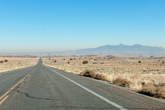 Arizona desert highway Royalty Free Stock Photos