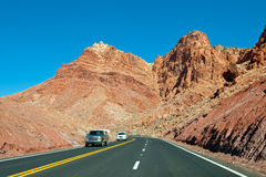 Arizona desert highway Stock Photos