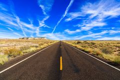 Arizona desert highway stock photo