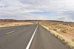 Arizona desert highway USA. Arizona desert highway in winter Stock Images