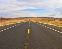 Arizona desert highway USA. Arizona desert highway in winter Royalty Free Stock Photo