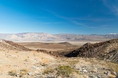 Arizona desert in January, USA. Scenic picture of the beautiful horizon in Arizona desert, USA Royalty Free Stock Images