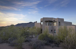 Arizona desert landscape adobe home Royalty Free Stock Photos