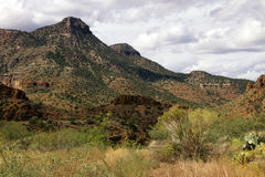 Arizona Desert Mountains in Tonto National Forest Stock Photos