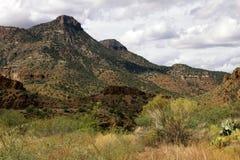 Arizona Desert Mountains in Tonto National Forest Stock Photos