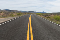 Arizona desert road. Road through the desert near Bagdad, Arizona Stock Photography