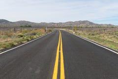 Arizona desert road. Road through the desert near Bagdad, Arizona Royalty Free Stock Photo