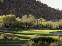 Arizona desert style golf course community setting Royalty Free Stock Photography