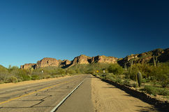 Arizona Desert. Superstition Mountains in Sonoran Desert Royalty Free Stock Photo