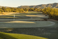 Arizona desert upscale golf course Royalty Free Stock Photo