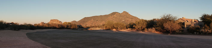 Arizona desert upscale golf course Stock Photography
