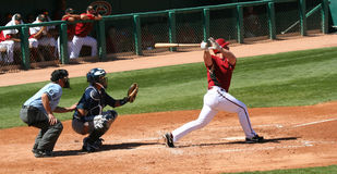 Arizona Diamondback Chad Tracy Gets a Hit Stock Images