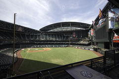 Arizona Diamondbacks Chase Field Baseball Stadium. From its signature swimming pool to its retractable roof, Chase Field is one of professional baseball's most Royalty Free Stock Images