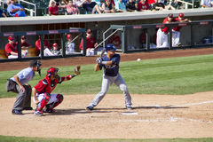 MLB Cactus League Spring Training Batter Royalty Free Stock Photo