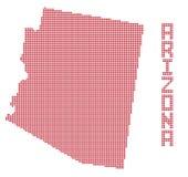 Arizona Dot Map. A dot map of Arizona state isolated on a white background royalty free illustration