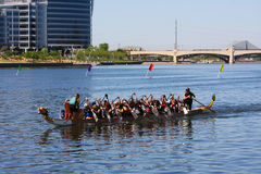 Arizona Dragon Boat Festival at Tempe Town Lake Stock Photography