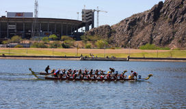 Arizona Dragon Boat Festival at Tempe Town Lake Royalty Free Stock Image